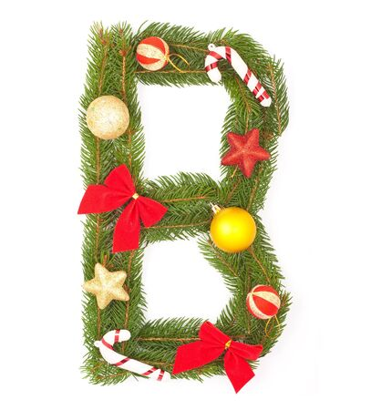 Christmas Alphabet. Part of full set isolated on a white background Stock Photo - 8251676