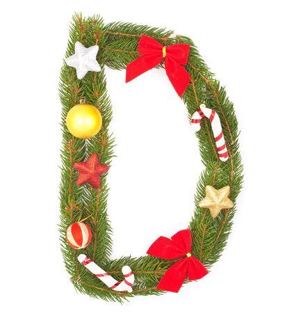 Christmas Alphabet. Part of full set isolated on a white background Stock Photo - 8251663
