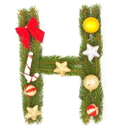 Christmas Alphabet. Part of full set isolated on a white background Stock Photo - 8251675