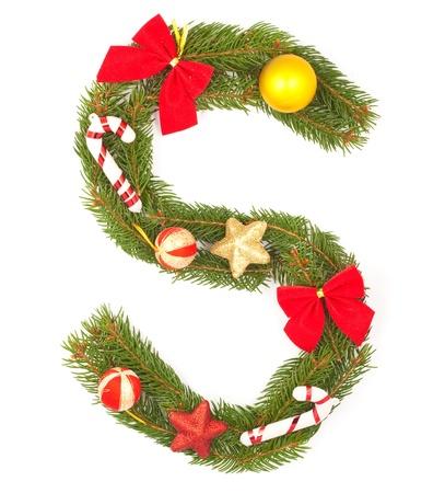 Christmas Alphabet. Part of full set isolated on a white background Stock Photo - 8251669