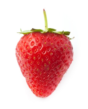The fresh strawberrie on a clear white background photo