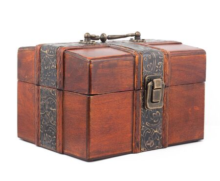 Treasure Chest. Isolated on a white background photo