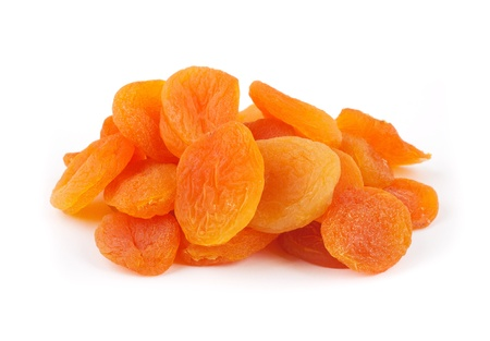 Dried apricots on a white background, Isolated