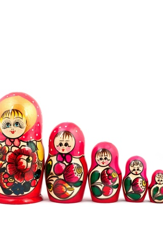 Russian Dolls. Isolated on a white background Stock Photo - 9463695