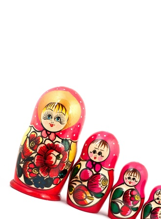 Russian Dolls. Isolated on a white background Stock Photo - 10073625