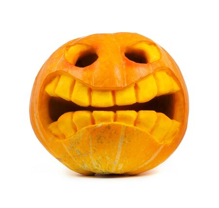 Halloween pumpkin isolated on a white background Stock Photo - 10817364