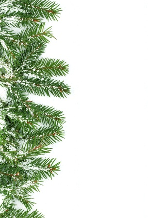 Christmas framework with snow isolated on white background Stock Photo - 11003829