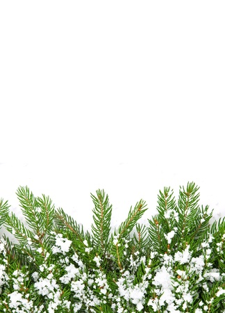 Christmas framework with snow isolated on white background Stock Photo - 11118594