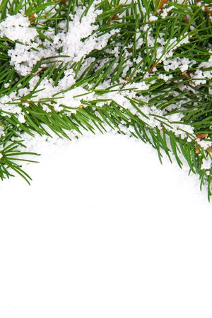Christmas framework with snow isolated on white background Stock Photo - 11118597