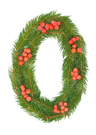 NUMBER 0 - Christmas tree decoration - part of a full set photo