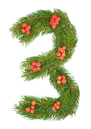 NUMBER 3 - Christmas tree decoration - part of a full set photo