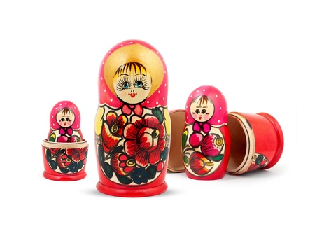 Russian Dolls. Isolated on a white background Stock Photo - 11318301