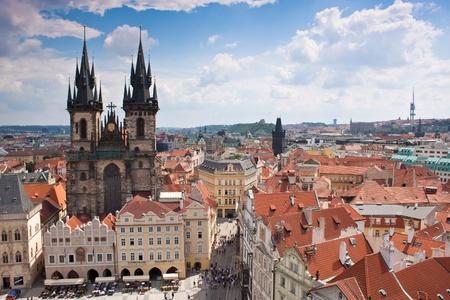 Città di Praga, una delle città più belle d'Europa Archivio Fotografico