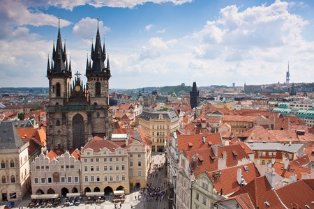 Prague city, one of the most beautiful city in Europe photo