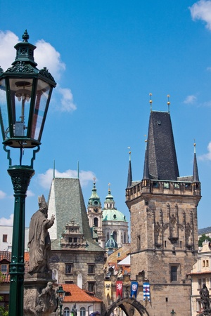 Prague city, one of the most beautiful city in Europe. Charles Bridge Stock Photo