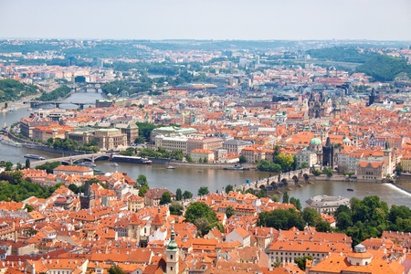 Prague city, one of the most beautiful city in Europe. Charles Bridge Stock Photo - 12813977