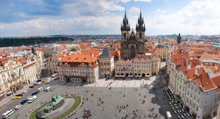 Prague city, one of the most beautiful city in Europe. Panorama. Stock Photo - 13911174