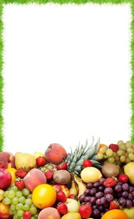 Colorful healthy fresh fruit. Shot in a studio photo