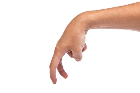 A male hand is showing the walking fingers isolated on a white background Stock Photo - 14472267