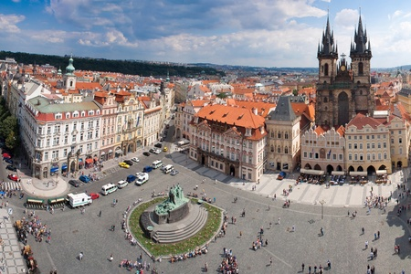 Prague city, one of the most beautiful city in Europe. Panorama.