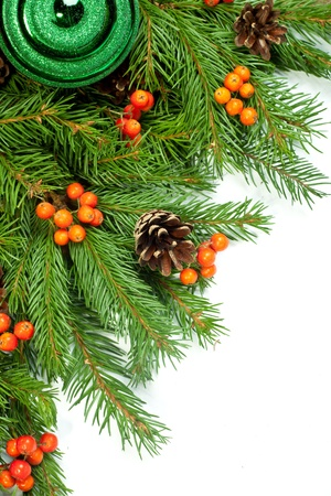 Christmas green framework isolated on white background Stock Photo - 15548703