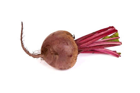 Fresh red beet isolated on a white background photo