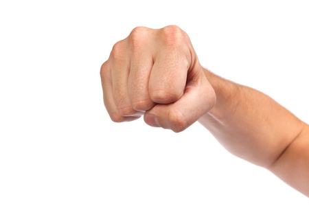 Hand with clenched a fist, isolated on a white background Stock Photo - 15767122