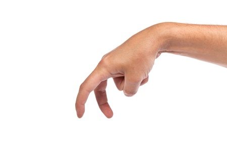 A male hand is showing the walking fingers isolated on a white background Stock Photo - 15767125