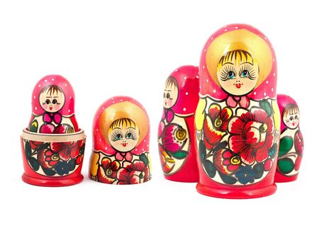 Russian Dolls. Isolated on a white background Stock Photo - 15933561