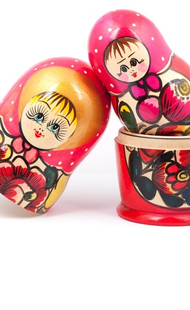 Russian Dolls. Isolated on a white background Stock Photo - 15933416