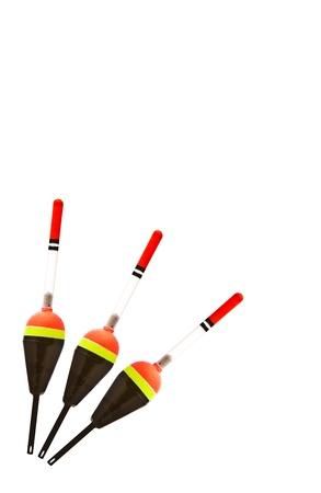 fishing bobber: Red fishing bobber isolated on white background