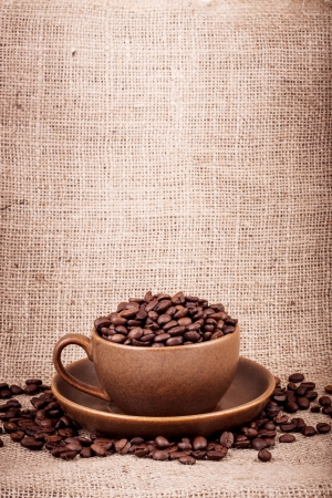 Cup of coffee. Shot in a studio Stock Photo - 17635061