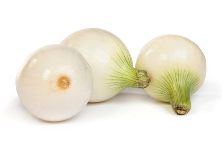 Group of a onions, isolated against white background Stock Photo - 17634655