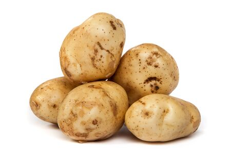 Group of potatoes isolated on a white background Stock Photo - 17634878