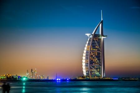 DUBAI, UAE - NOVEMBER 14 :The worlds first seven stars luxury hotel Burj Al Arab, November 14, 2012 in Dubai, United Arab Emirates Editorial