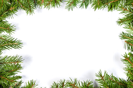 Christmas green framework isolated on white background Stock Photo - 22199810