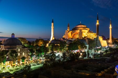 patriarchal: Hagia Sophia, a former Orthodox patriarchal basilica, later a mosque and now a museum in Istanbul, Turkey Stock Photo