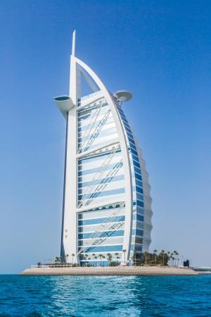 DUBAI, UAE - NOVEMBER 14 :The worlds first seven stars luxury hotel Burj Al Arab, November 14, 2012 in Dubai, United Arab Emirates