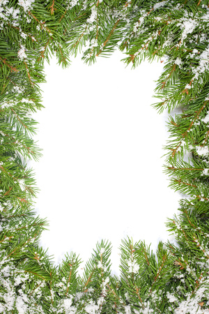 christmas snow: Christmas background with snow isolated on white