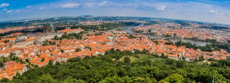 ityscape of Prague city. Panoramic view. One of the most beautiful city in Europe photo