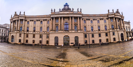 studied: BERLIN, GERMANY - DECEMBER 26: Humboldt University of Berlin on December 26, 2012 in Berlin, Germany. Founded in 1810. Famous physicists Albert Einstein and Max Planck studied here. Editorial