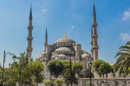 Blue mosque in Istanbul Turkey - architecture religion background photo