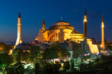 Hagia Sophia, a former Orthodox patriarchal basilica, later a mosque and now a museum in Istanbul, Turkey Stock Photo - 23751982