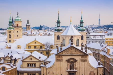 Prague in winter, one of the most beautiful city in Europe