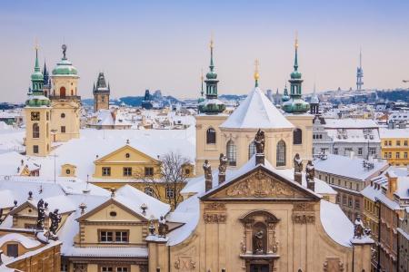 Praha v zimě, jeden z nejkrásnějších měst v Evropě