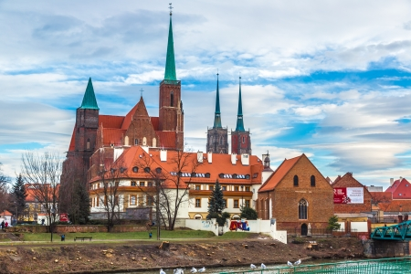 wroclaw: panorama of old town of Wroclaw, Poland Editorial