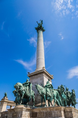 Heroes square in Budapest, a square dedicated to the hungarian kings photo