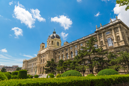 The Museum of Natural History in Vienna. View from the Maria-Theresien Place