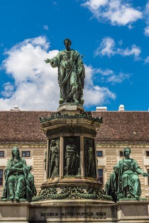 hofburg: Innerer Burghof Vienna, part of the Hofburg withAmalientrakt and Amalienburg