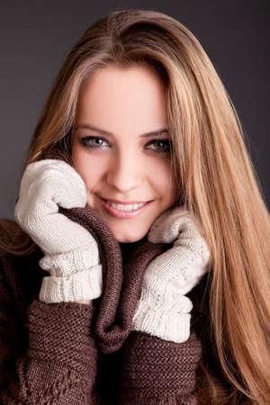 Beauty Portrait. Beautiful woman. Shot in a studio on a black background photo
